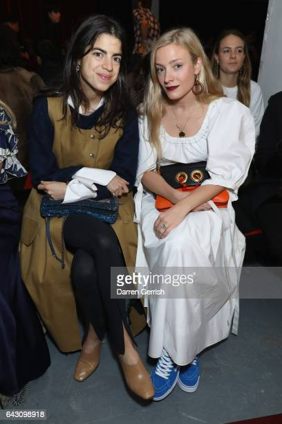 Leandra Medine and Kate Foley attend the Roksanda show during the London Fashion Week February 2017 collections on February 20 2017 in London England
