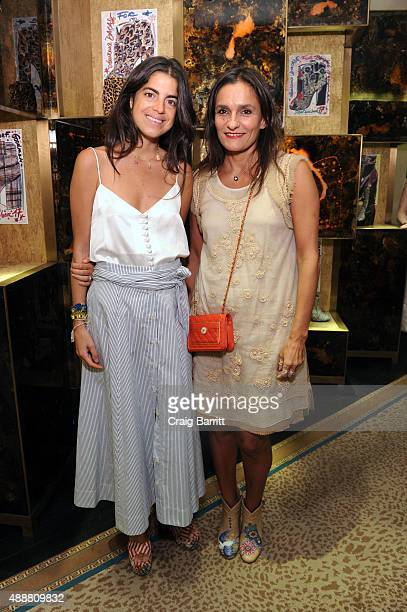 Leandra Medine and Laurence Dacade attend the Bergdorf Goodman Laurence Dacade event with The Man Repeller at Bergdorf Goodman on September 17 2015...