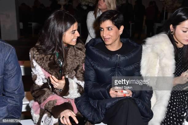 Leandra Medine and Princess Deena Aljuhani Abdulaziz attend the Adam Selman show during New York Fashion Week at Skylight Clarkson Sq on February 9...