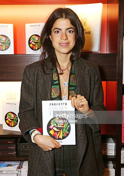 Leandra Medine attends as Farfetch celebrate the launch of new book 'Farfetch Curates Food' at Maison Assouline on March 24 2015 in London England