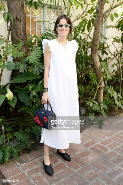 Leandra Medine attends CFDA/Vogue Fashion Fund Show and Tea at Chateau Marmont at Chateau Marmont on October 25 2017 in Los Angeles California