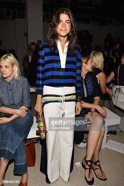 Leandra Medine attends Suno Spring 2016 during New York Fashion Week The Shows at The Gallery Skylight at Clarkson Sq on September 16 2015 in New...