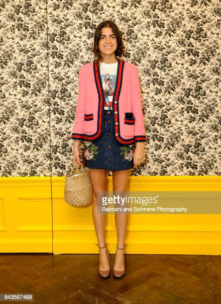 Leandra Medine attends Susan Chokachi and Linda Fargo host a private dinner to introduce Gucci Decor at BG Restaurant Bergdorf Goodman on September 6...