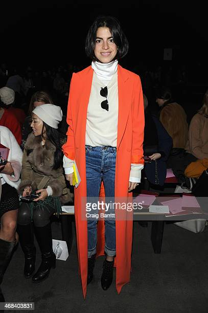 Leandra Medine attends the 31 Phillip Lim fashion show during MercedesBenz Fashion Week Fall 2014 at Skylight at Moynihan Station on February 10 2014...