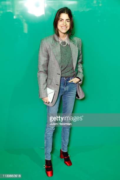 Leandra Medine attends the Lacoste show as part of the Paris Fashion Week Womenswear Fall/Winter 2019/2020 on March 05 2019 in Paris France