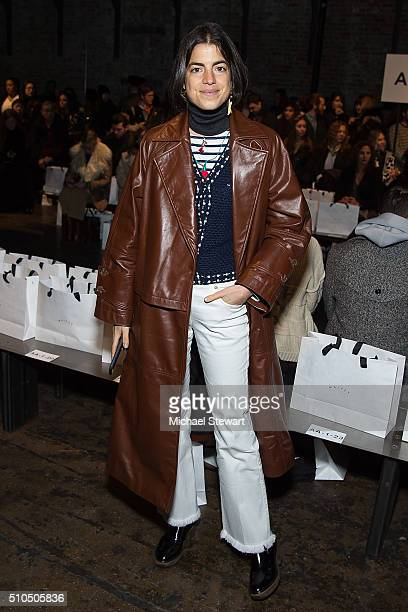 Leandra Medine attends the Maiyet fashion show during Fall 2016 New York Fashion Week at Cedar Lake on February 15 2016 in New York City