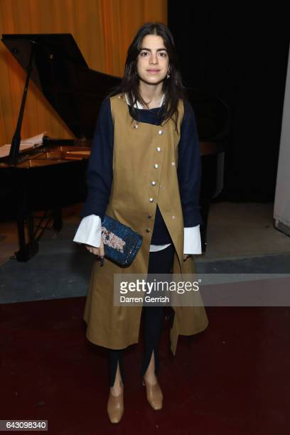 Leandra Medine attends the Roksanda show during the London Fashion Week February 2017 collections on February 20 2017 in London England