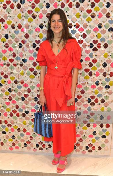 Leandra Medine during the opening of the new Kate Spade New York boutique store on April 16, 2019 in Munich, Germany. This store marks Kate Spade New...