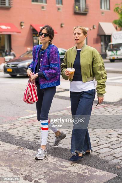 Leandra Medine is seen in NoHo on May 17 2018 in New York City