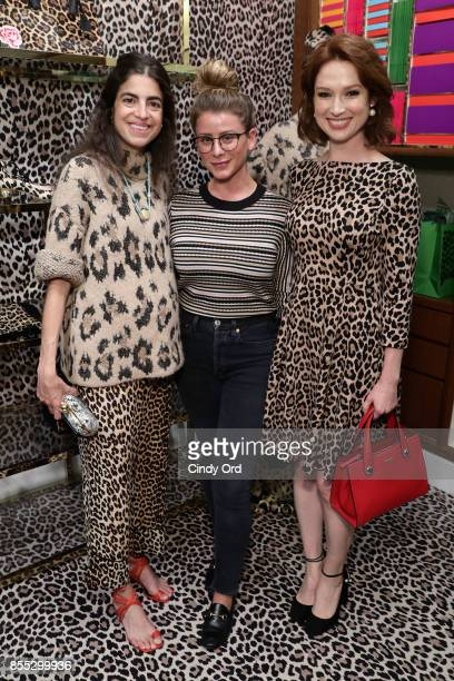 Leandra Medine Lo Bosworth and Ellie Kemper attend the Leopard Leopard Leopard PopUp Shop hosted by Kate Spade New York Man Repeller on September 28...