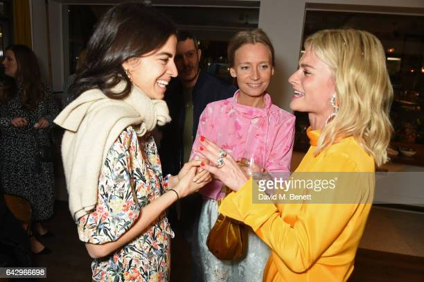 Leandra Medine Martha Ward and Pandora Sykes arrive as Topshop and Leandra Medine host dinner to celebrate London Fashion Week on February 19 2017 in...