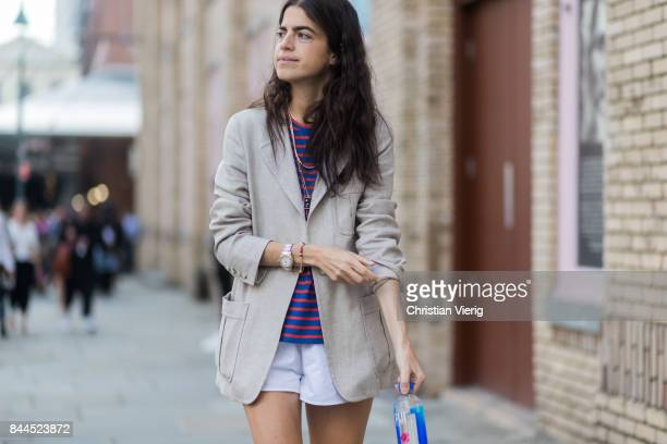 Leandra Medine seen in the streets of Manhattan outside Jason Wu during New York Fashion Week on September 8 2017 in New York City