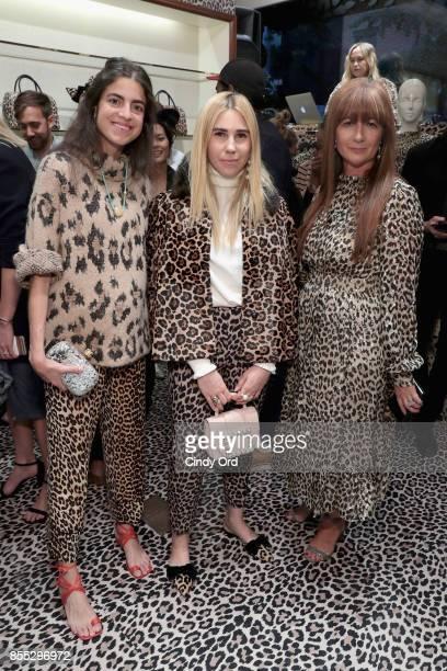 Leandra Medine Zosia Mamet and Deborah Lloyd attend the Leopard Leopard Leopard PopUp Shop hosted by Kate Spade New York Man Repeller on September 28...