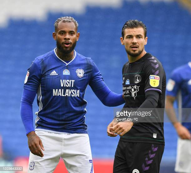 Leandro Bacuna during the Sky Bet Championship match between Cardiff City and Charlton Athletic at Cardiff City Stadium on June 30, 2020 in Cardiff,...