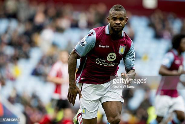 Leandro Bacuna of Aston Villa during the Barclays Premier League match between Aston Villa v Southampton at Villa Park on April 23 2016 in Birmingham...