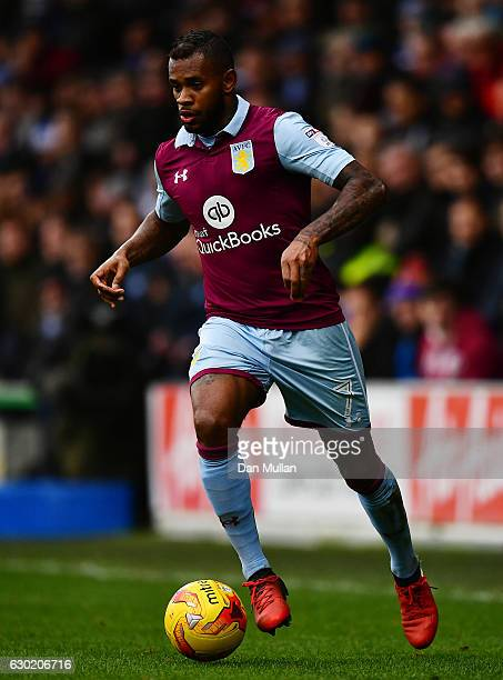Leandro Bacuna of Aston Villa in action during the Sky Bet Championship match between Queens Park Rangers and Aston Villa at Loftus Road on December...