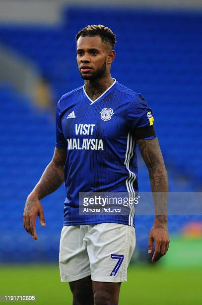 Leandro Bacuna of Cardiff City during the FA Cup third round match between Cardiff City and Carlisle United at the Cardiff City Stadium on January 04...