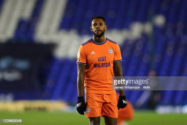 Leandro Bacuna of Cardiff City during the Sky Bet Championship match between Coventry City and Cardiff City at St Andrew's Trillion Trophy Stadium on...