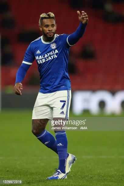 Leandro Bacuna of Cardiff City during the Sky Bet Championship match between Watford and Cardiff City at Vicarage Road on December 5, 2020 in...