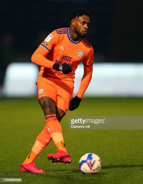 Leandro Bacuna of Cardiff City during the Sky Bet Championship match between Wycombe Wanderers and Cardiff City at Adams Park on December 29, 2020 in...