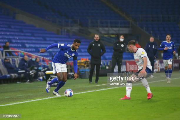 Leandro Bacuna of Cardiff City FC during the Sky Bet Championship match between Cardiff City and Luton Town at Cardiff City Stadium on November 28,...
