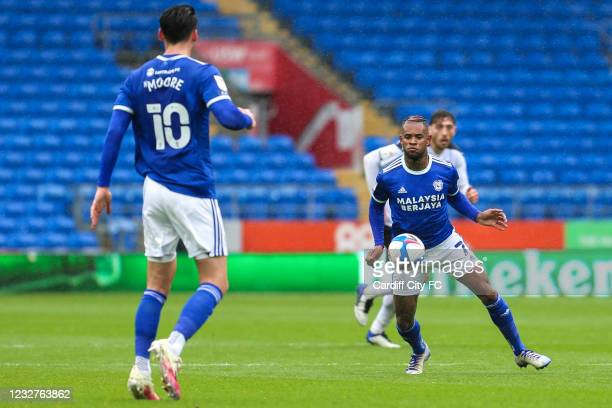 Leandro Bacuna of Cardiff City FC during the Sky Bet Championship match between Cardiff City and Rotherham United at Cardiff City Stadium on May 8,...