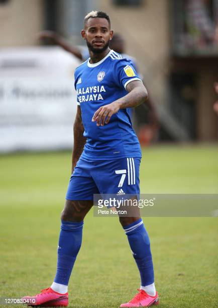 Leandro Bacuna of Cardiff City in action during the Carabao Cup First Round match between Northampton Town and Cardiff City at PTS Academy Stadium on...
