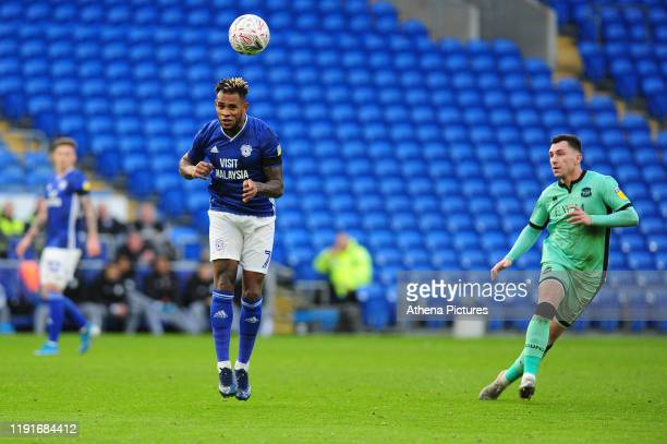 Leandro Bacuna of Cardiff City in action during the FA Cup third round match between Cardiff City and Carlisle United at the Cardiff City Stadium on...
