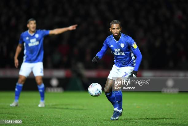 Leandro Bacuna of Cardiff City runs with the ball during the Sky Bet Championship match between Brentford and Cardiff City at Griffin Park on...