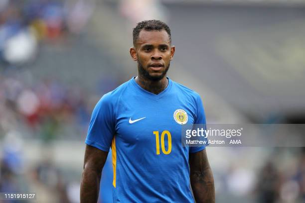 Leandro Bacuna of Curacao during the Group C 2019 CONCACAF Gold Cup fixture between Jamaica v Curacao at Banc of California Stadium on June 25, 2019...