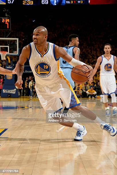 Leandro Barbosa of the Golden State Warriors drives against the Memphis Grizzlies in Game Two of the Western Conference Semifinals of the 2015 NBA...