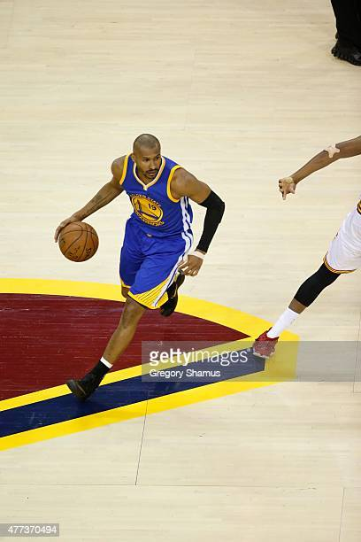 Leandro Barbosa of the Golden State Warriors drives to the basket against the Cleveland Cavaliers during Game Six of the 2015 NBA Finals at the...
