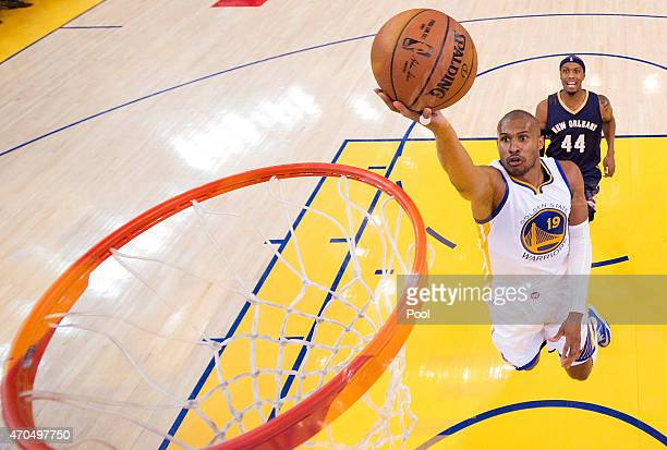 Leandro Barbosa of the Golden State Warriors goes in for a layup against the New Orleans Pelicans in the first half during the first round of the...