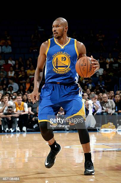 Leandro Barbosa of the Golden State Warriors handles the ball during the game against the Los Angeles Lakers on October 12 2012 at Citizens Business...