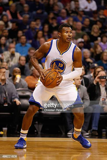 Leandro Barbosa of the Golden State Warriors looks to pass during the NBA game against the Phoenix Suns at Talking Stick Resort Arena on November 27...