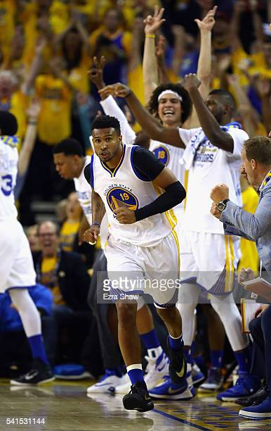 Leandro Barbosa of the Golden State Warriors reacts during the first half against the Cleveland Cavaliers in Game 7 of the 2016 NBA Finals at ORACLE...