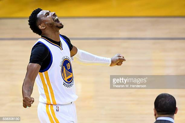 Leandro Barbosa of the Golden State Warriors reacts in Game 2 of the 2016 NBA Finals against the Cleveland Cavaliers at ORACLE Arena on June 5 2016...