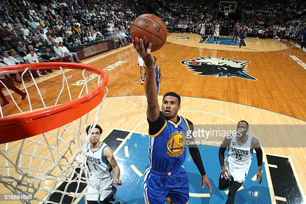 Leandro Barbosa of the Golden State Warriors shoots the ball against the Minnesota Timberwolves on March 21 2016 at Target Center in Minneapolis...