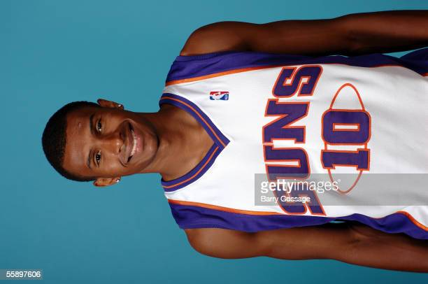 Leandro Barbosa of the Phoenix Suns poses for a head shot on October 3 2005 at America West Arena in Phoenix Arizona NOTE TO USER User expressly...