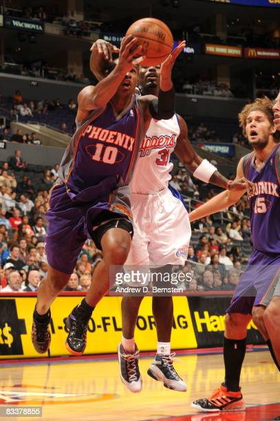 Leandro Barbosa of the Phoenix Suns puts up a shot during the game against the Los Angeles Clippers at Staples Center on October 21 2008 in Los...