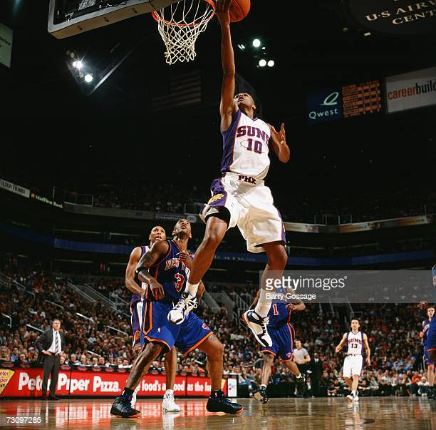Leandro Barbosa of the Phoenix Suns shoots a layup during a game against the New York Knicks at US Airways Center on December 29 2006 in Phoenix...
