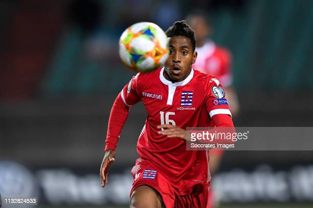Leandro Barreiro Martins of Luxembourg during the EURO Qualifier match between Luxembourg v Ukraine at the Stade Josy Barthel on March 25, 2019 in...