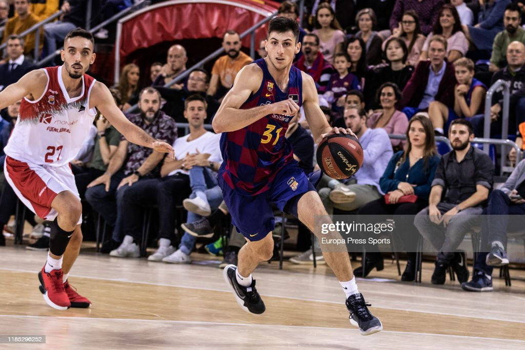 FC Barcelona's 6-6 point forward, Leandro Bolmaro could potentially be a first round pick in the 2020 NBA Draft.  (Photo: Javier Borrego / AFP7 / Europa Press Sports via Getty Images)