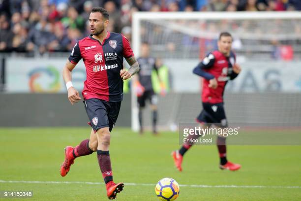 Leandro Castan of Cagliari in action during the serie A match between Cagliari Calcio and Spal at Stadio Sant'Elia on February 4 2018 in Cagliari...