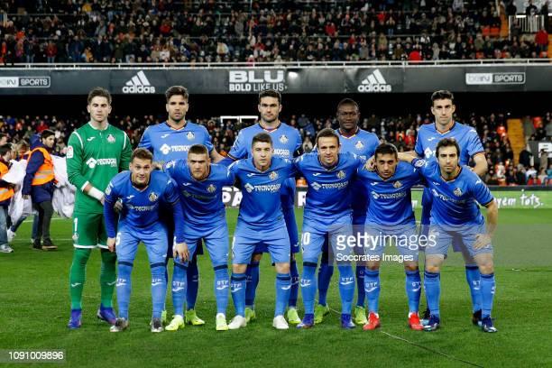 Leandro Chichizola of Getafe CF Dakonam Djene of Getafe CF Vitorino Antunes of Getafe CF Leandro Cabrera of Getafe CF Jaime Mata of Getafe CF...