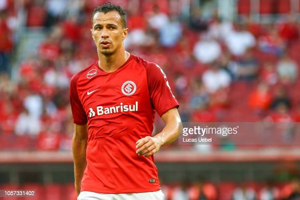 Leandro Damiao of Internacional looks on during the match between Internacional and Atletico PRas part of Brasileirao Series A 2018 at Estadio...