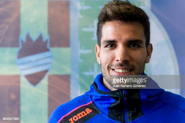 Leandro Daniel Cabrera is presented as new Getafe player at Estadio Coliseum Alfonso Perez on January 16 2018 in Getafe Spain