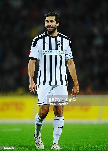 Leandro Grech during the second Bundesliga match between VfR Aalen and 1 FC Koeln at ScholzArena on September 27 2013 in Aalen Germany