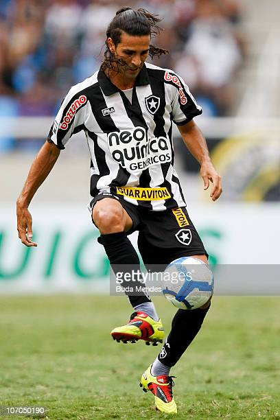 Leandro Guerreiro of Botafogo in action during a match against Internacional for the Brazilian Championship 2010 Serie A at the Engenhao Stadium on...