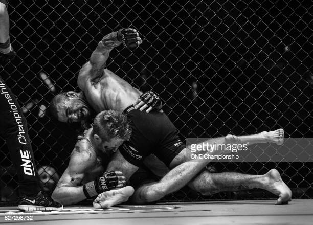 Leandro Issa TKOs Toni Tauru during ONE Championship Kings And Conquerors at the Cotai Arena on August 5 2017 in Macau Macau